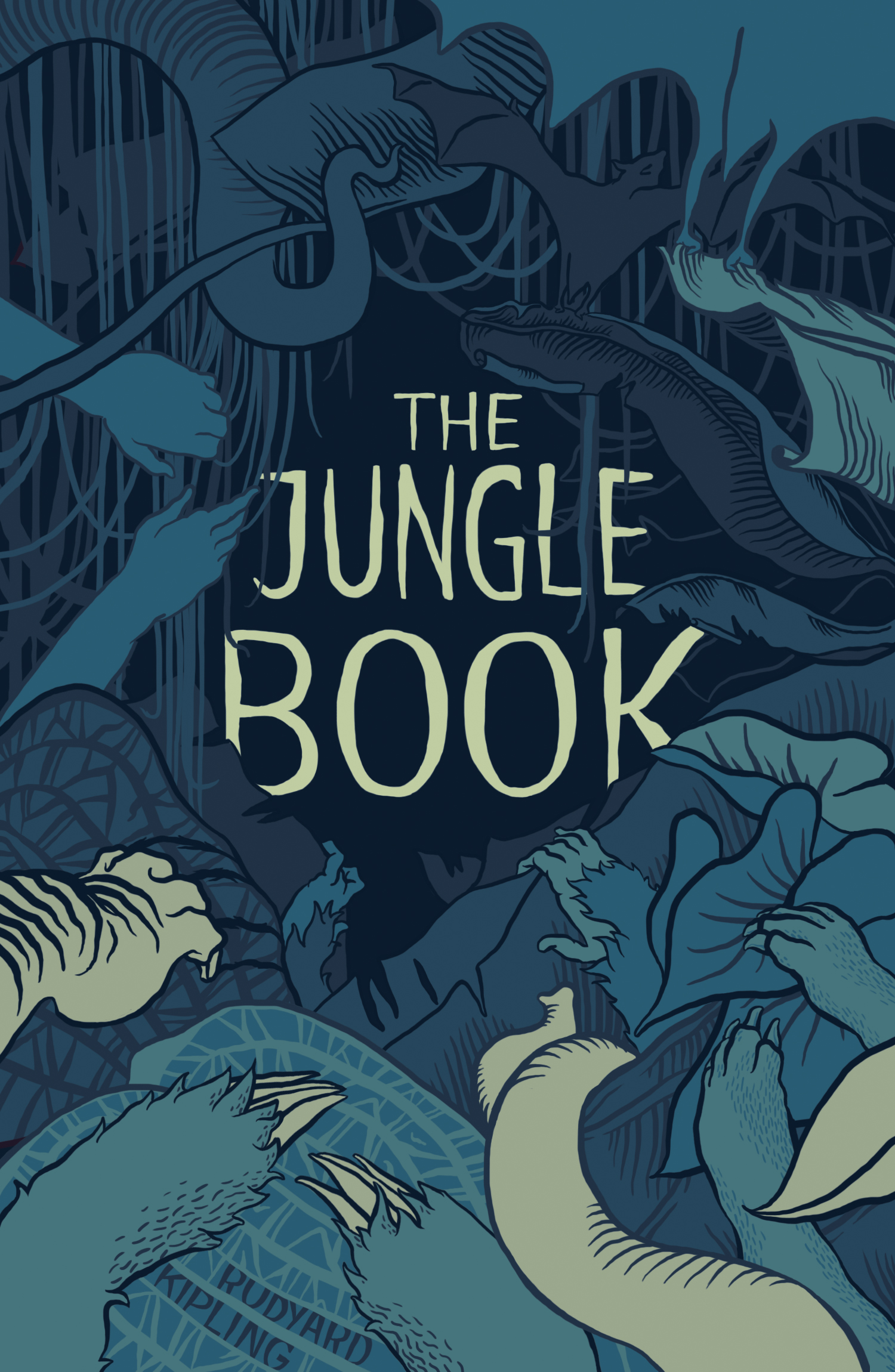 How To Make A Book Cover Using Illustrator : Cover illustration the jungle book by brett